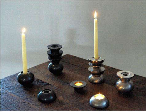 totem candle holders 2