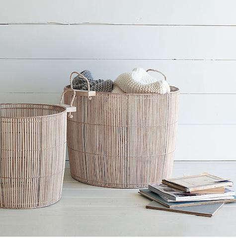 washed wood basket west elm
