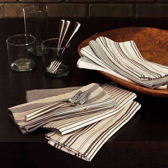 west elm black stripe  20  napkins