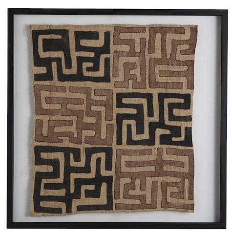 wisteria framed kuba cloth 2