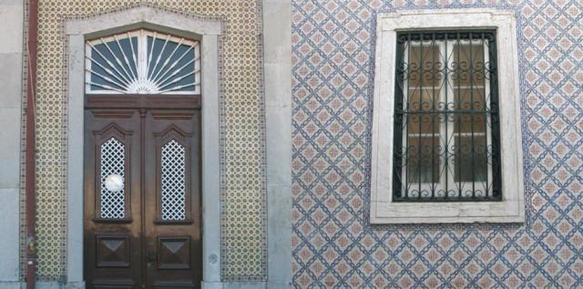 640 blue doorway tiled