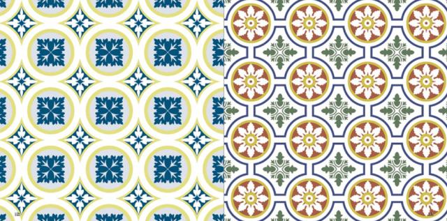 640 green beige tiles