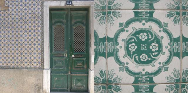 640 green doorway tiled