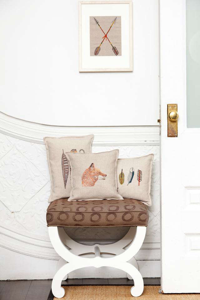 640 rm coral and tusk pillows