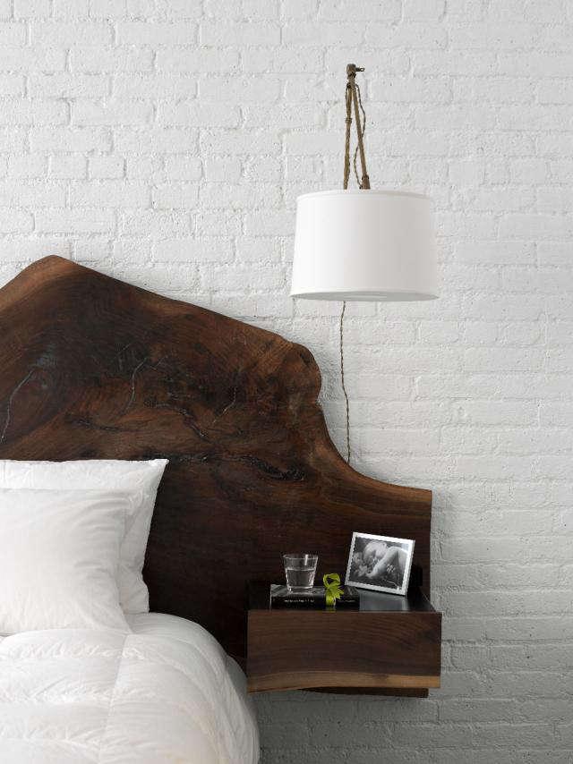 640 wooden headboard tribeca loft nyc