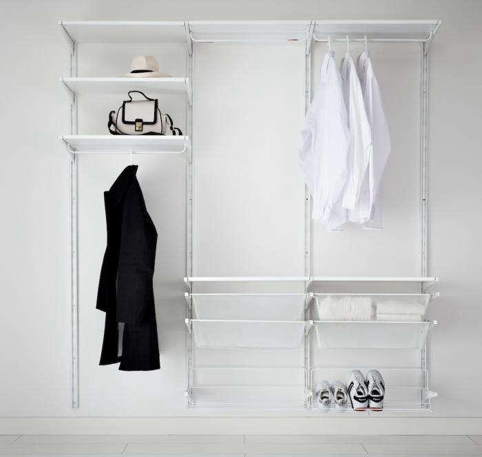 700 algor closet system white