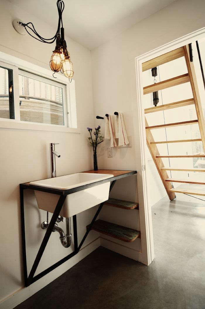 700 bathroom with industial sink by kartwheel