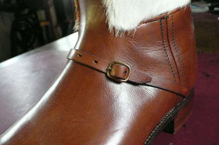700 cowhide boot close up