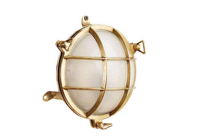 700 davey round brass bulkhead light