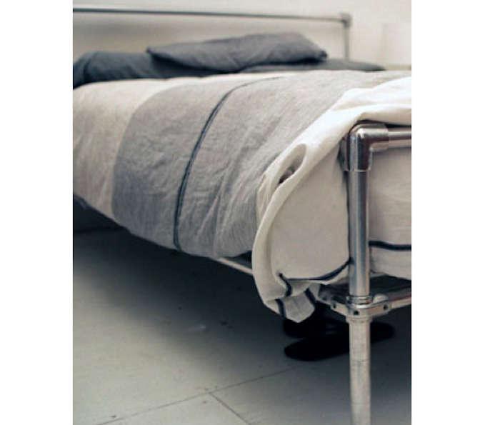 DIY Pipe Bed Frame portrait 5