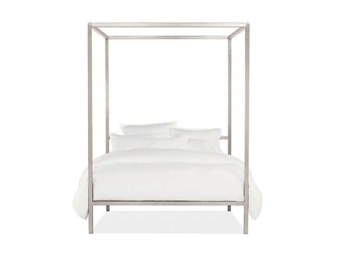 700 portica queen canopy bed silver