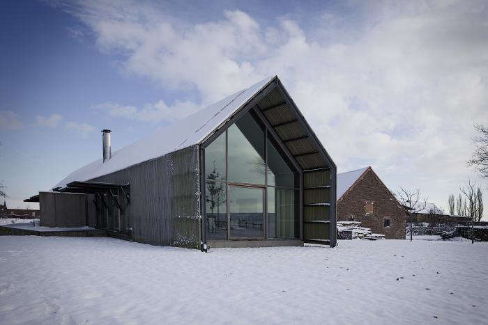 12 Favorites SnowCovered Cabins from the Remodelista Archives A barn in West Flanders is transformed by Buro II/Archi+I; see more atA West Flanders Barn Tells a Tale of Two Seasons.