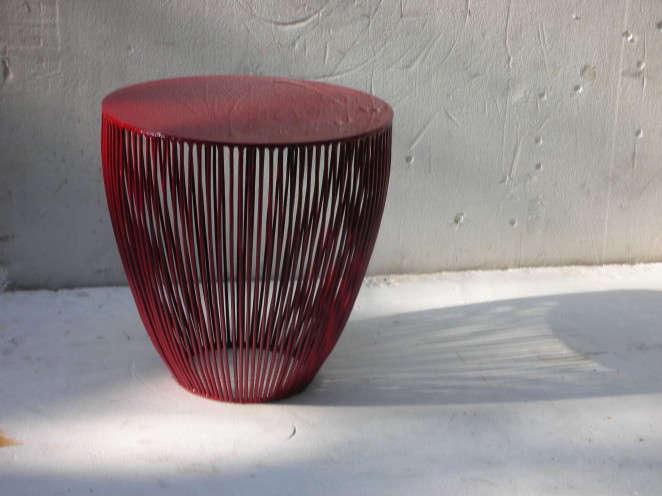 antonino sciortino red stool 10