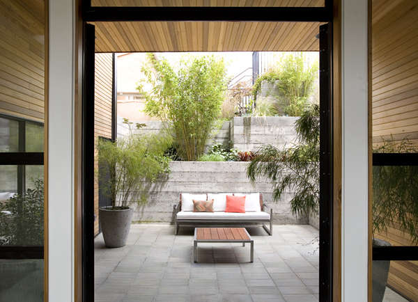 medium plenty concrete block patio