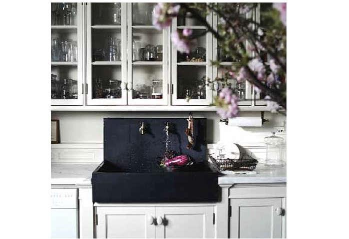 roman williams kitchen cherry blossoms