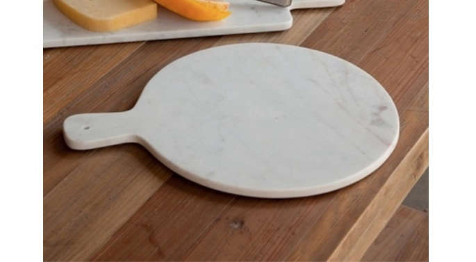 round marble cheese bard round