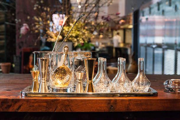 saison cocktail glasses