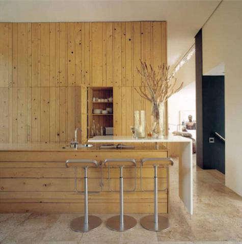 hot afro wood kitchen
