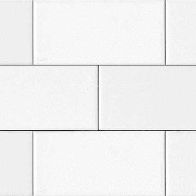 white matte subway tile
