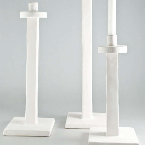 White Candle Holders by Jacqueline Morabito portrait 2