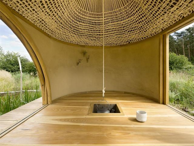 640 teahouse 3 knitted sisal soffit