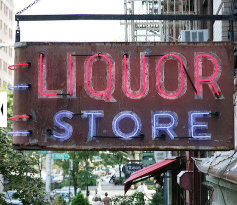 mens shop at the liquor store