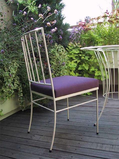 plain air purple chair