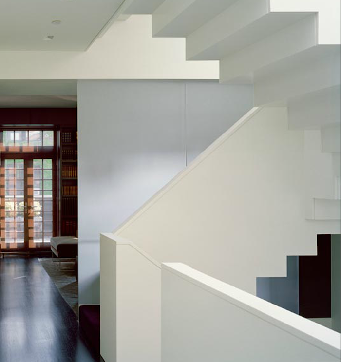 700 billinkoff west village loft with modern white stair