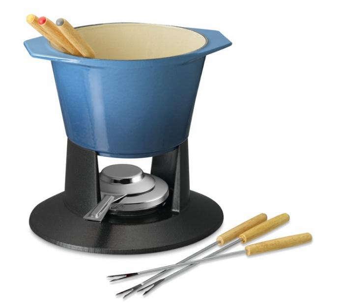 700 blue fondue pot
