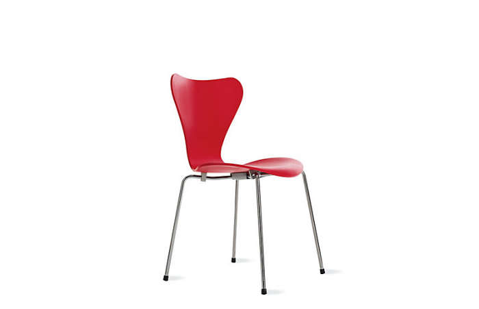 700 colored ash wood chair red