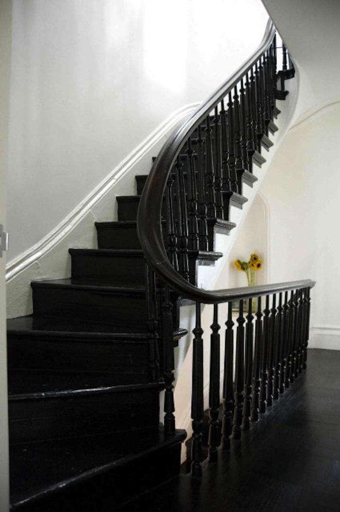 700 elizabeth roberts painted black winding staircase