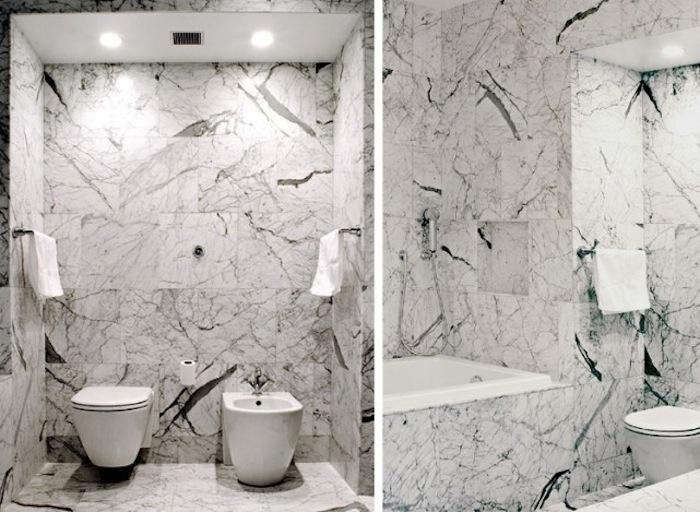 700 front studio architects bluewater loft marble bathroom with toilet and bidet