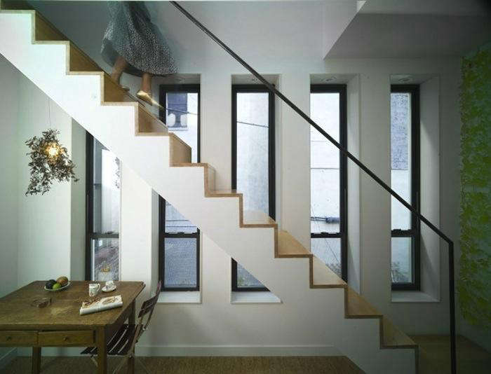 700 front studio harlem townhouse stair with white side and light wood treads
