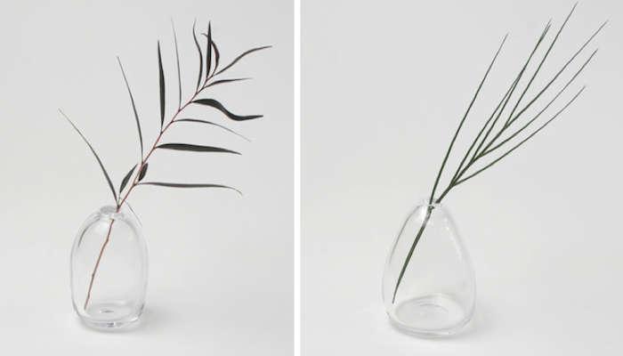 700 glass bud vases pebble