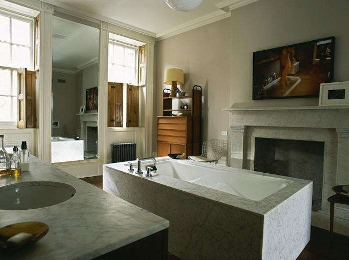 700 made llc marble bath in new york city townhouse