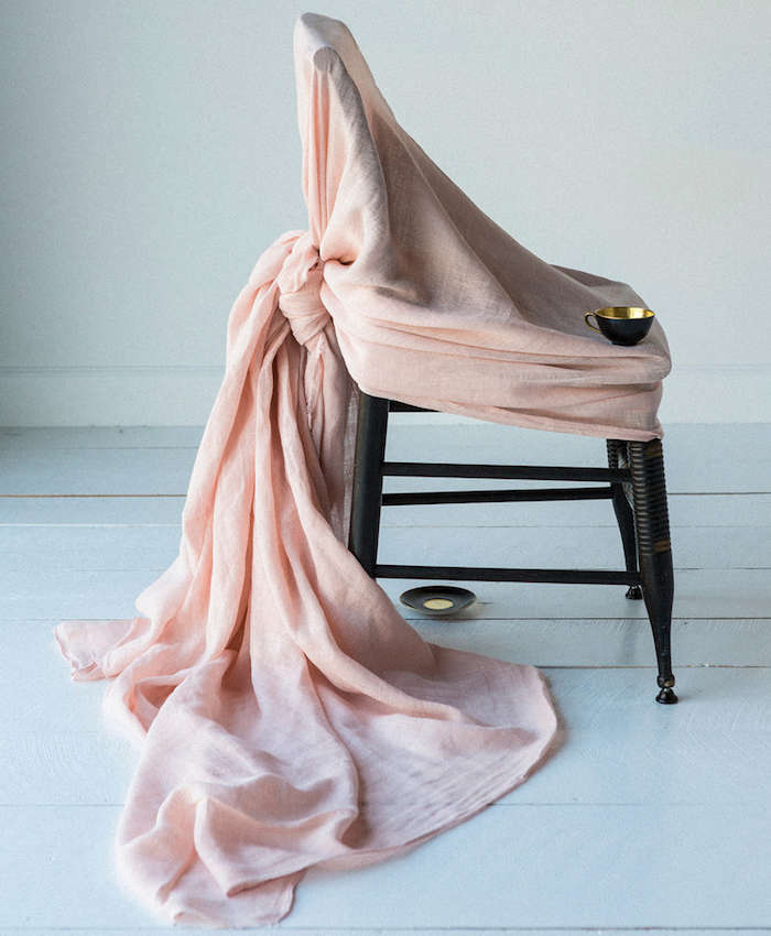 700 pink sheet on a chair