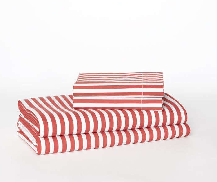 700 stripe sheet set west elm