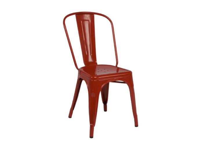 700 tolix cafe chair red