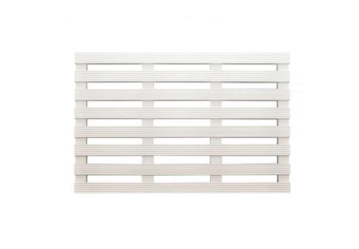 700 white wooden duckboard bath mat