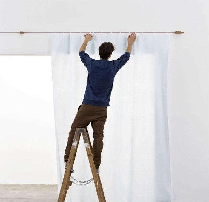 700 winding cord curtain