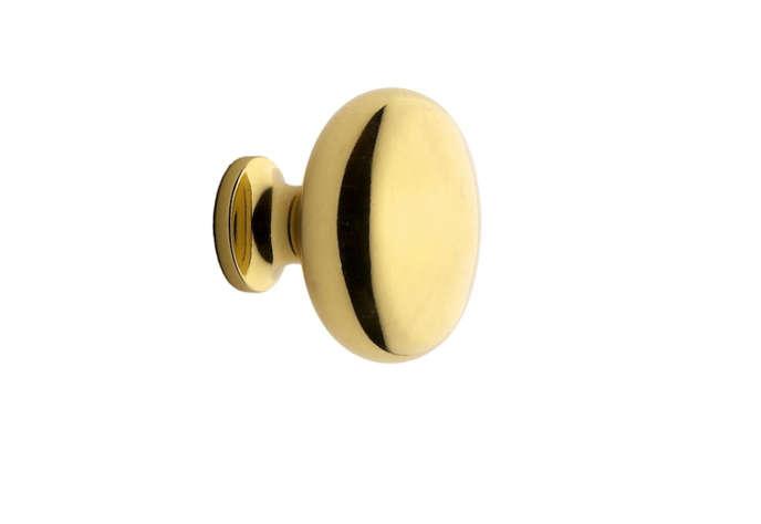 classic round brass knob