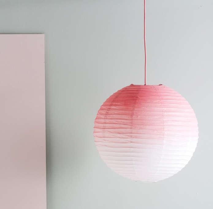 diy pink ombre light