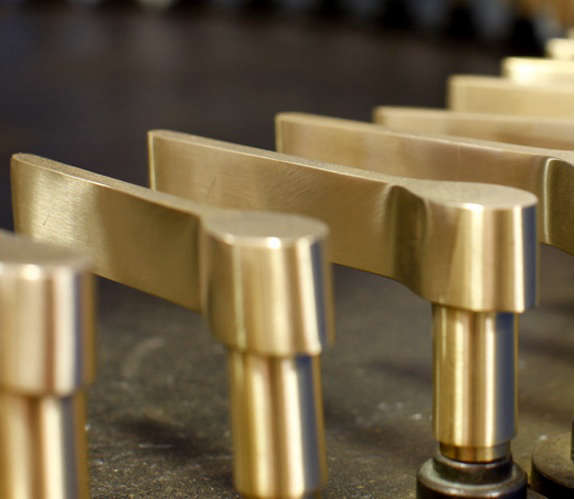olivari brass door handle