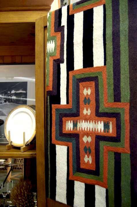 cabin fever cross rug