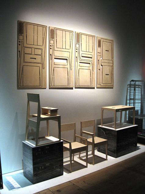 Furniture Flatpack Table and Chair from Studio Civico portrait 3