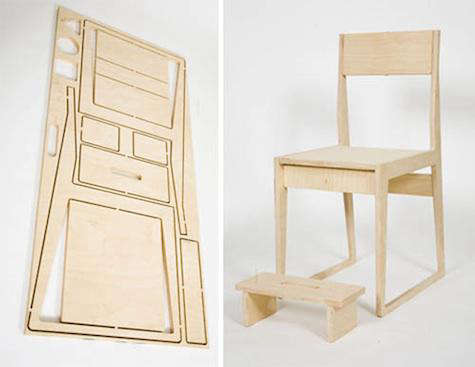 Furniture Flatpack Table and Chair from Studio Civico portrait 4