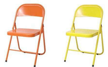 conran yellow orange folding chair