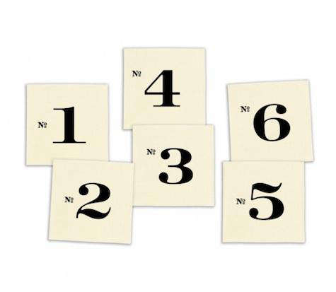 heather lins numbered coasters