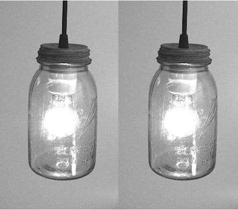 mason jar lights pair
