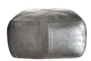Design Sleuth Silver Pouf from Calypso Home portrait 5